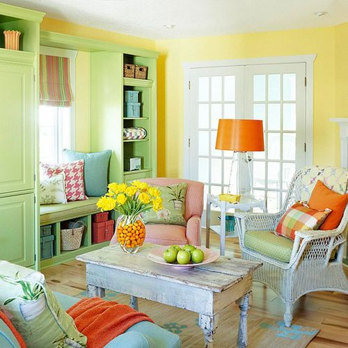 Bright-paint-colors-for-living-room