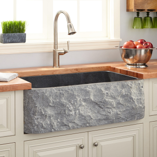 Natural stone farmhouse sink