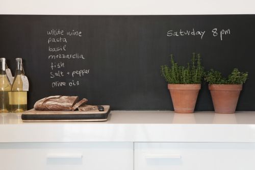 Chalkboard paint backsplash